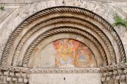 Ascoli Piceno - hlavní portál kostela San Francesco
