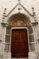 Ascoli Piceno - boční portál kostela San Francesco