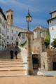 Spoleto - schodiště od katedrály