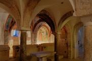 Spoleto - San Ponziano - krypta a fresky