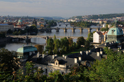 pražské mosty a Strakova akademie