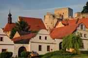 státní hrad Rabí IV - pohled z náměstí