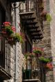 Petralia Soprana - květinový balkon