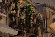 Taormina - květinový balkon