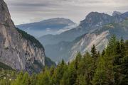 pohled od Col dei Baldi do údolí Alleghe