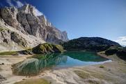 Lago di Coldai a západní stěny masivu Civetta I