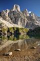 Lago di Coldai a západní stěny masivu Civetta II