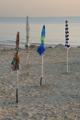 slunečníky na pláži poblíž Cologna Spiaggia