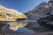 Lago di Coldai a forcella Coldai