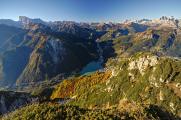 Marmolada, Lago di Alleghe a Le Tofane
