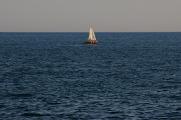 plachetnice na moři u Lerici