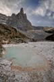 zbytek vyschlého jezera Lago di Sorapiss