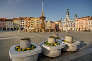 Premysl Otakar 2nd Square - Samson fountain and town hall VI
