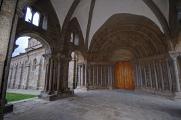 entrance Romanesque portal of basilica
