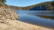 Orlická přehrada - písčina