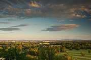 večerní pohled od zámku na České Budějovice