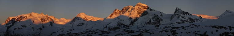 Monte Rosa and Breithorn
